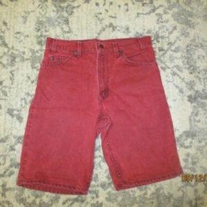 VINTAGE RED MENS LEVI'S 550 SHORTS SIZE 32